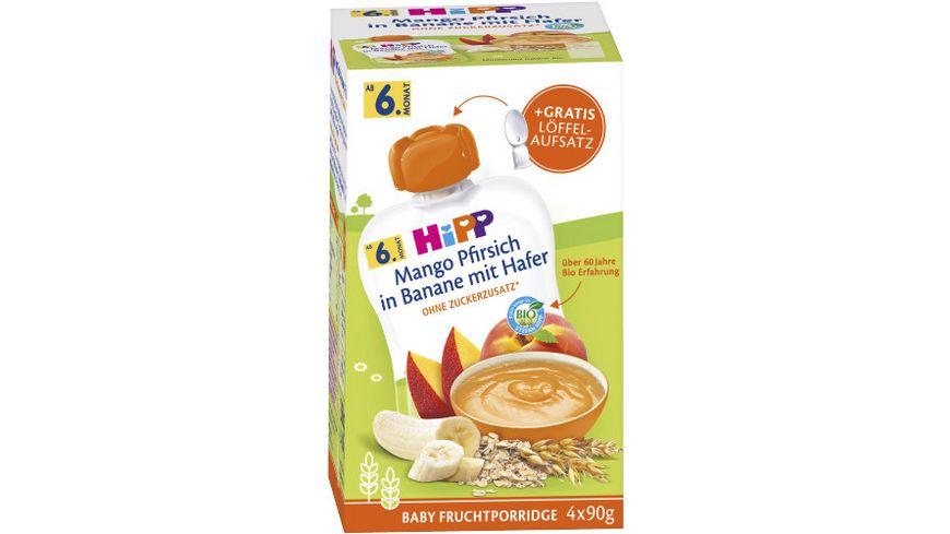 HiPP Bio Frucht Porridge Mango Pfirsich in Banane mit Hafer