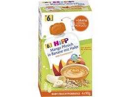 HiPP Beikost Frucht Porridge Mango Pfirsich in Banane mit Hafer