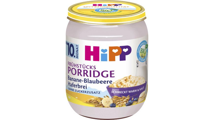 HiPP Beikost Frühstücks-Porridge Banane-Blaubeere Haferbrei