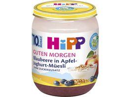 HiPP Bio Guten Morgen Mueesli Blaubeere in Apfel Joghurt Mueesli 160g
