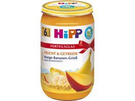 HiPP BIO Fruechtebrei mit Griess Mango Banane