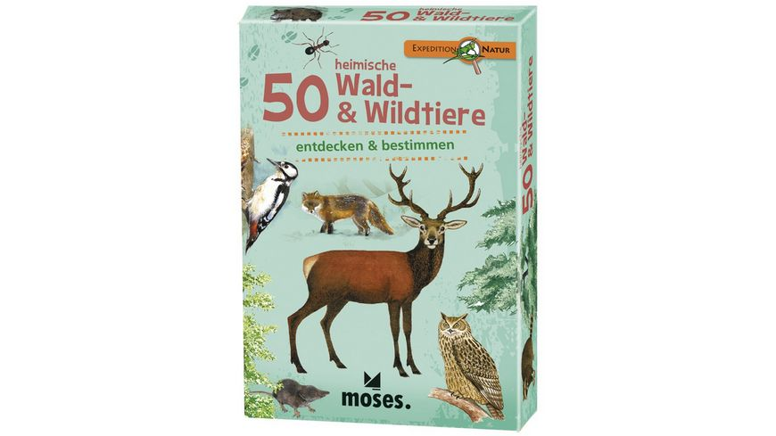 moses Expedition Natur 50 heimische Wald Wildtiere