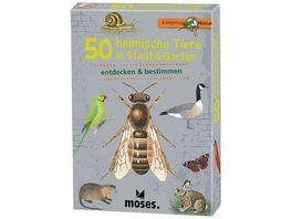 moses Expedition Natur 50 heimische Tiere in Stadt Garten