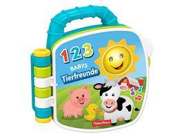 Fisher Price Tierfreunde Liederbuch Baby Spielzeug mit Musik Lernspielzeug