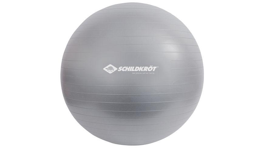 Schildkröt-Fitness - Gymnastikball 55 cm, phthalatfrei, mit Ballpumpe, silber