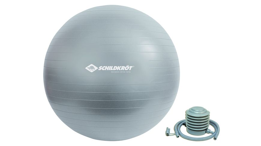 Schildkröt-Fitness - Gymnastikball 65 cm, phthalatfrei, mit Ballpumpe, silber