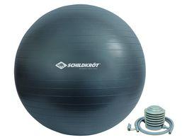Schildkroet Fitness Gymnastikball 75 cm phthalatfrei mit Ballpumpe Gruen