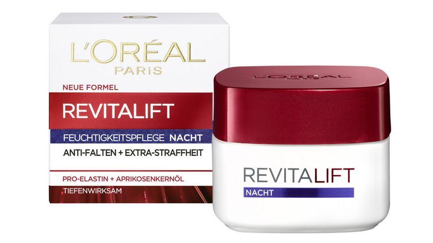 L OREAL PARIS REVITALIFT Nachtpflege mit Pro Elastin und Aprikosenkernoel