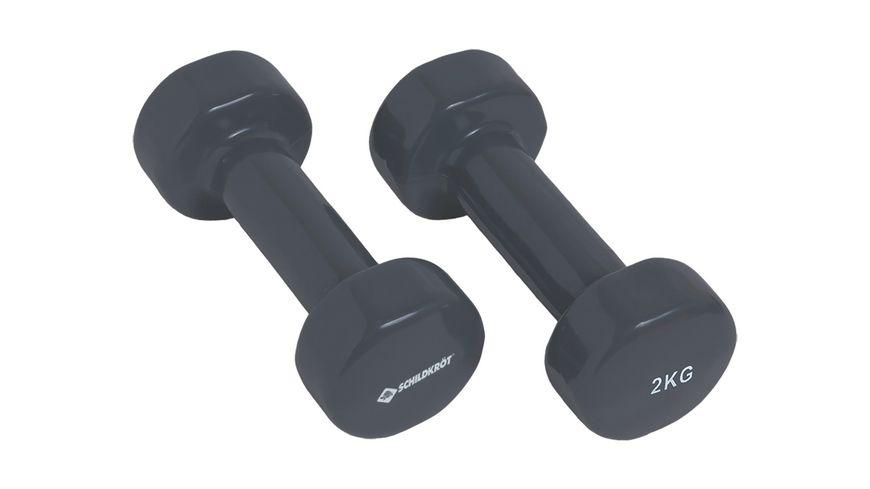 Schildkroet Fitness Vinyl Hantel Set 2 x 2 0 kg