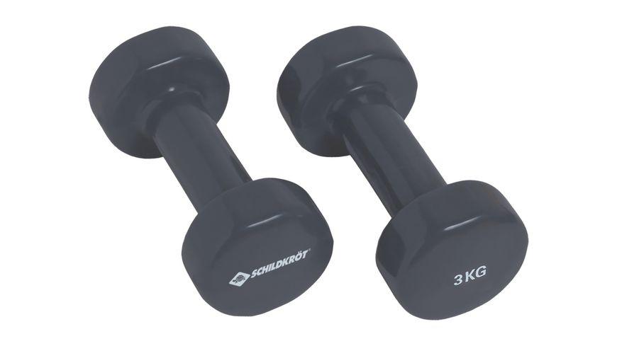 Schildkroet Fitness Venyl Hantel Set 2 x 3 0 kg