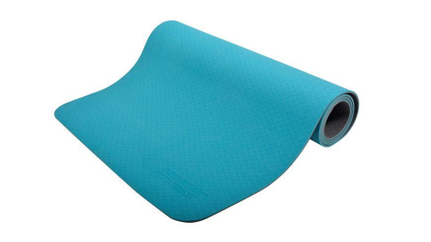 Schildkröt-Fitness - BICOLOR Yogamatte, Petrol-Anthrazit, 4mm, PVC-frei, im Carrybag