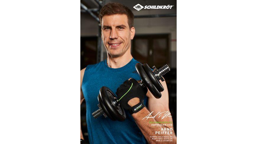 Schildkroet Fitness Fitness Handschuhe Classic verschiedene Groessen waehlbar S M L XL Schwarz Gruen
