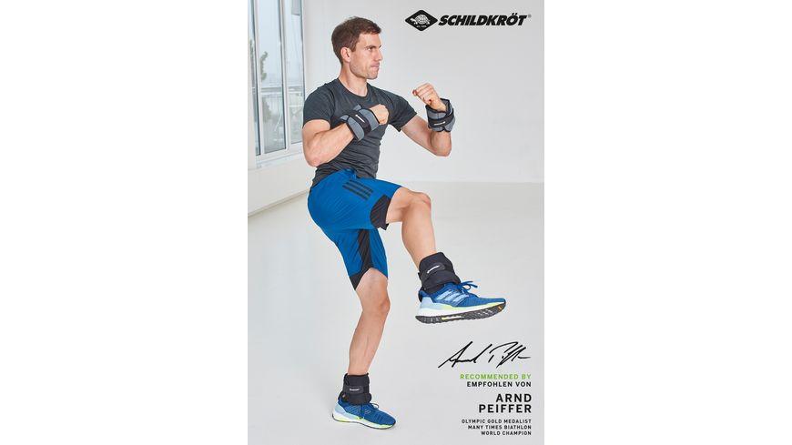 Schildkroet Fitness Gewichtsmanschetten Arm Bein 2 x 1 0 kg Set