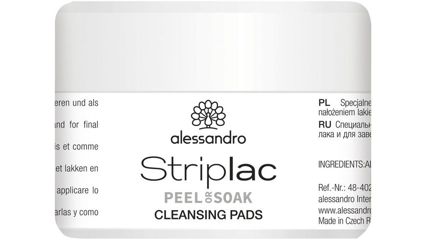alessandro Striplac Peel or Soak Reinigungspads