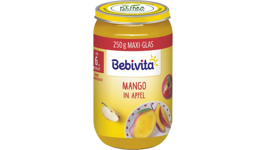 Bebivita Fruechte ab dem 6 Monat Mango in Apfel