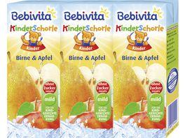 Bebivita Kinder Schorle 3x200ml Birne Apfel geeignet ab 1 Jahr