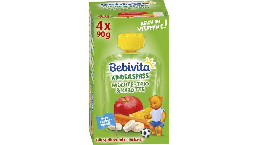 Bebivita Kinder Spass Fruechte Trio und Karotte