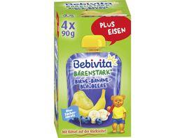 Bebivita Quetschie Birne Banane Blaubeere