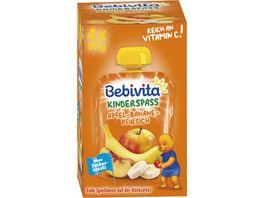 Bebivita Kinder Spass Apfel Banane Pfirsich 4x90g
