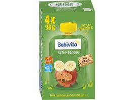 Bebivita Quetschie Apfel Banane mit Keks