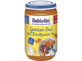 Bebivita Gemuese Reis mit Rindfleisch