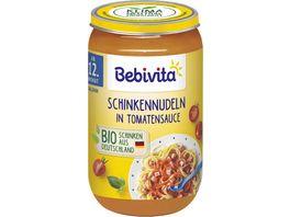 Bebivita Menues ab dem 12 Monat Schinkennudeln in Tomatensauce