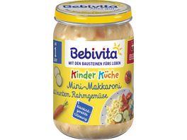 Bebivita Babyglaeschen Mini Makkaroni mit buntem Rahmgemuese
