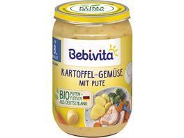 Bebivita Menues ab dem 8 Monat Kartoffel Gemuese mit Pute