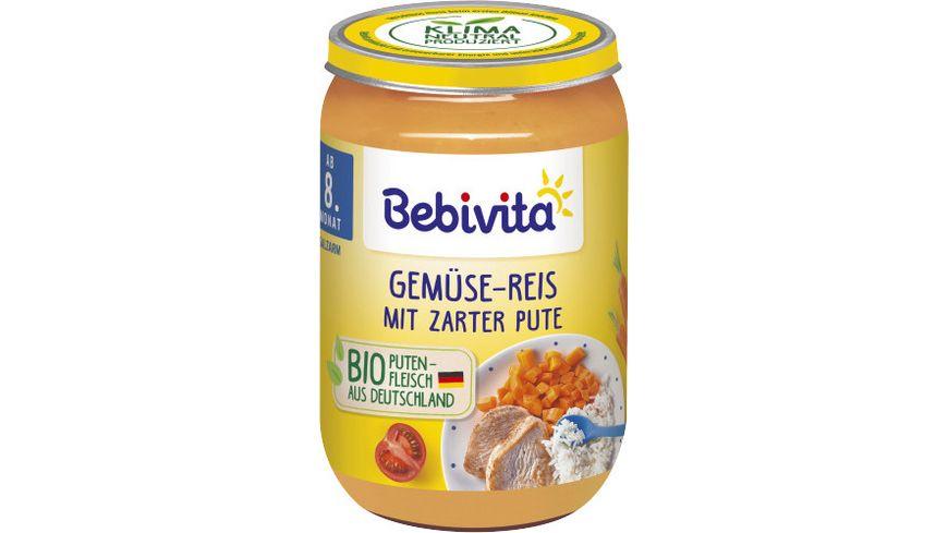 Bebivita Menues ab dem 8 Monat Gemuese Reis mit zarter Pute