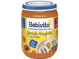 Bebivita Menues ab dem 4 Monat Gemuese Spaghetti mit Pute