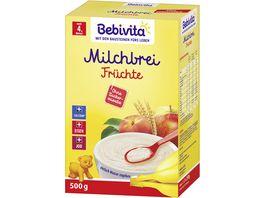 Bebivita Milchbrei 500g Milchbrei Fruechte ohne Zuckerzusatz ab 5 Monat