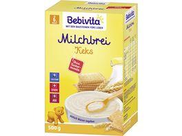 Bebivita Milchbrei Keks ohne Zuckerzusatz Vorratspack 500 g 2x250g