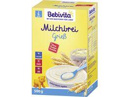 Bebivita Milchbreie Milchbrei Griess ohne Zuckerzusatz Vorratspack 500 g 2x250 g