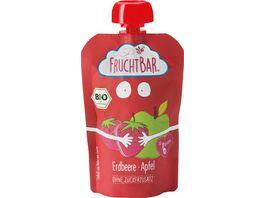 FRUCHTBAR Fruchtpueree Apfel Erdbeere