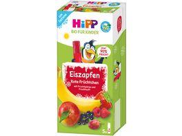 HiPP Bio fuer Kinder Eiszapfen Rote Fruechtchen mit Fruchtpueree und Fruchtsaft zum Einfrieren 150ml 5x30ml