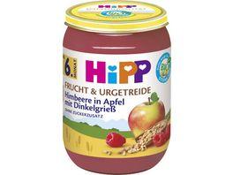 HiPP Bio Frucht und Urgetreide Himbeere in Apfel mit Dinkelgriess 190g