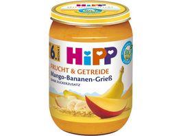 HiPP Bio Frucht und Getreide Mango Bananen Griess ohne Zuckerzusatz 190g