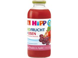 HiPP Fruchtsaft Plus Rote Traube in Apfel