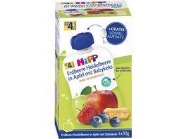 HiPP Bio Erdbeere Heidelbeere in Apfel Babykeks