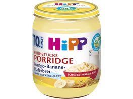 HiPP Bio Fruehstuecks Porridge Mango Banane Haferbrei ohne Zuckerzusatz 160g