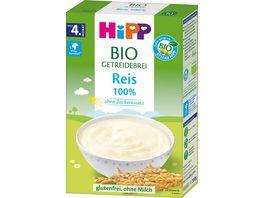 HiPP Bio Getreide Breie 100 Reis ohne Zuckerzusatz glutenfrei 200g