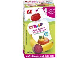 HiPP Bio Frucht und Gemuesepueree Apfel Banane Rote Beete