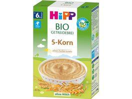HiPP Bio Getreidebrei 5 Korn