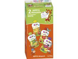 HiPP Bio fuer Kinder HiPPiS 4er Mixpack 4x100g ab 1