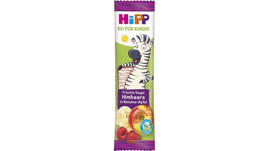 HiPP Bio-Riegel Früchte Freund 23g: Himbeere in Banane-Apfel - Süße nur aus Früchten, ab 1+