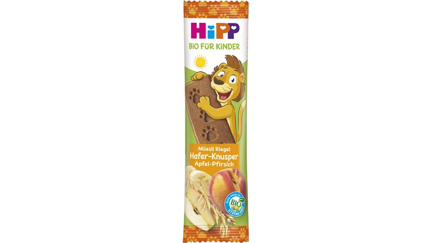 HiPP Müesli Riegel Hafer-Knusper Apfel Pfirsich