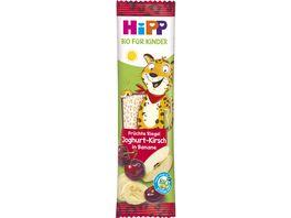 HiPP Bio fuer Kinder Fruechte Riegel 23g Joghurt Kirsch in Banane Suesse nur aus Fruechten ab 1