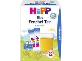 HiPP Instant Teegetraenk erster Fenchel Tee aus 100 Bio Fenchel zuckerfrei 15 Einzelportionen a 0 36g