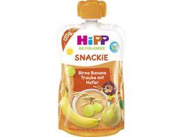 HiPP Bio fuer Kinder Snackie Birne Banane Traube mit Hafer Leo Loewe 120g