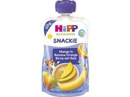 HiPP Bio fuer Kinder Snackie Mango in Banane Orange Birne mit Reis Thilo Tiger 120g fuer Kinder 1